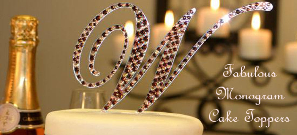 Fabulous Monogram Cake Toppers