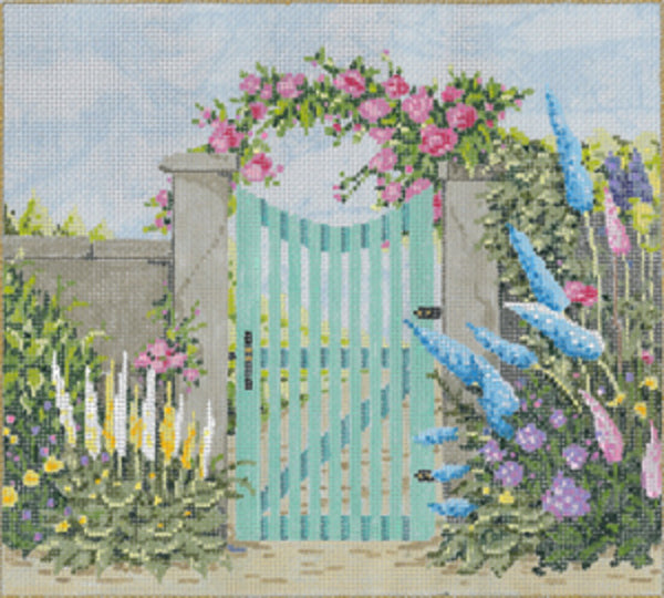 Needlepoint Handpainted Sandra Gilmore Nantucket w/Stitch Guide 9x8