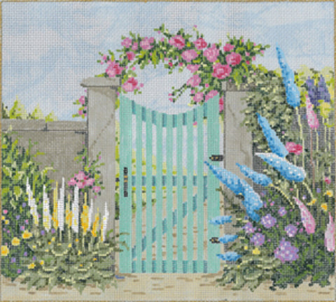 NEEDLEPOINT HANDPAINTED Canvas Sandra Gilmore NANTUCKET w/ STITCH GUIDE