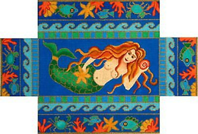 NEEDLEPOINT Handpainted Amanda Lawford Brick Cover MERMAID Beach NEW