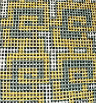 Needlepoint Handpainted Amanda Lawford GEOMETRIC GREEN  SeaFoam 13M