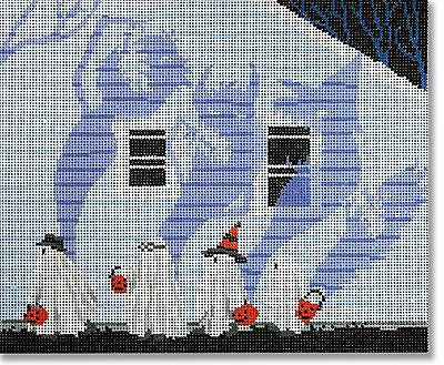 Needlepoint Handpainted Canvas HALLOWEEN Scott Church Candy Monster