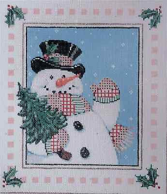 Needlepoint Handpainted Canvas SANDRA GILMORE Christmas HEY YA w/Stitch Guide