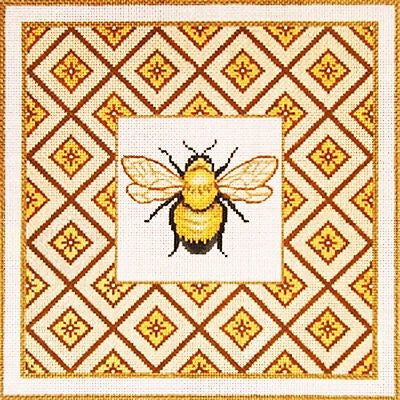 NEEDLEPOINT HandPainted Canvas Amanda Lawford BUMBLE BEE 11x11 13M