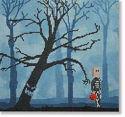NEEDLEPOINT Handpainted Canvas HALLOWEEN Scott Church Gimme Your Candy