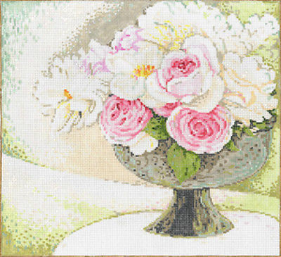 Needlepoint HandPainted Sandra Gilmore Pretty w/ Stitch Guide 9x10