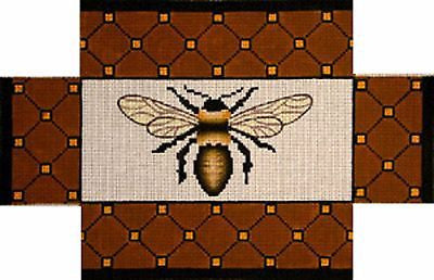 NEEDLEPOINT Handpainted Amanda Lawford BEE Brick Cover 13x9