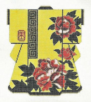 Needlepoint Handpainted Canvas LEE Yellow KIMONO 5x6 18M Fits BAG 01