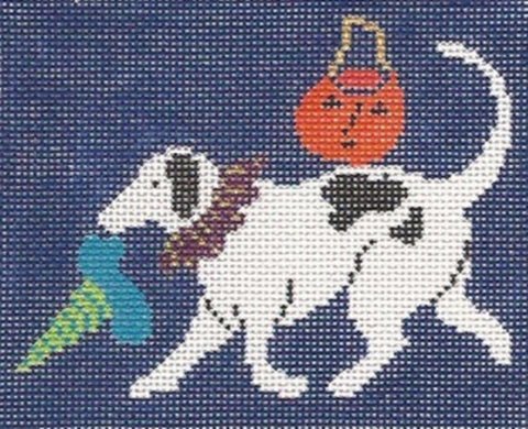 NEEDLEPOINT HandPainted HALLOWEEN Jane Cather BROOK 13M