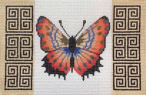 NEEDLEPOINT Handpainted Amanda Lawford BUTTERFLY 6x4