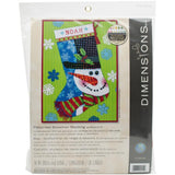 Needlepoint Christmas STOCKING KIT Patterned SNOWMAN Dimensions 16""