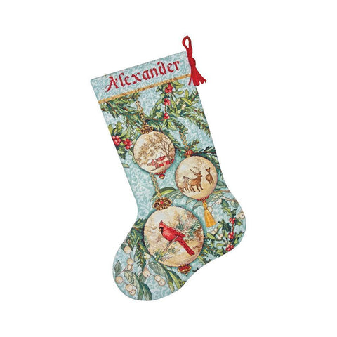 Counted Cross Stitch Christmas Stocking Kit Enchanted Ornaments Dimensions