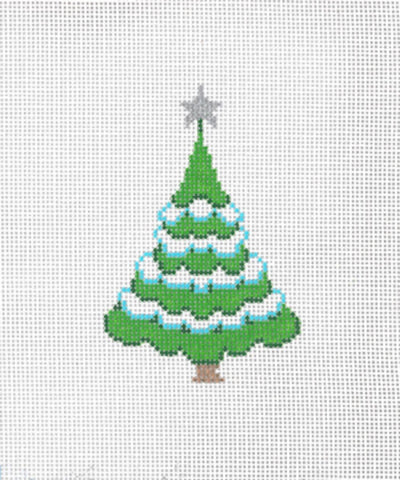 Needlepoint Handpainted Canvas SANDRA GILMORE Christmas TREE A  2.5""