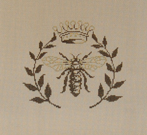 Needlepoint HANDPAINTED Canvas Sandra Gilmore BEE  6 x 5.5