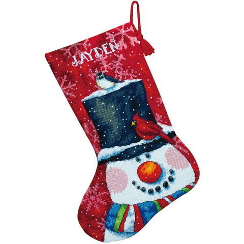 Needlepoint Christmas STOCKING KIT Snowman and Friends Dimensions 13x20