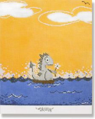 NEEDLEPOINT Handpainted James Polisky TRULY 7 x 8.5