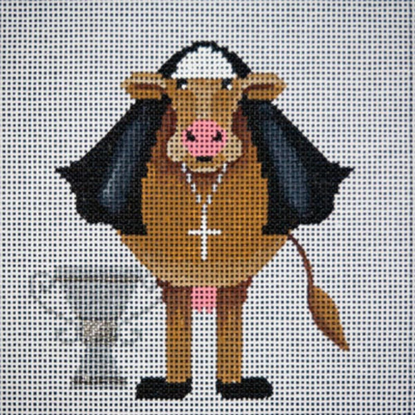 Needlepoint HandPainted JP Needlepoint Holy Cow  6x6