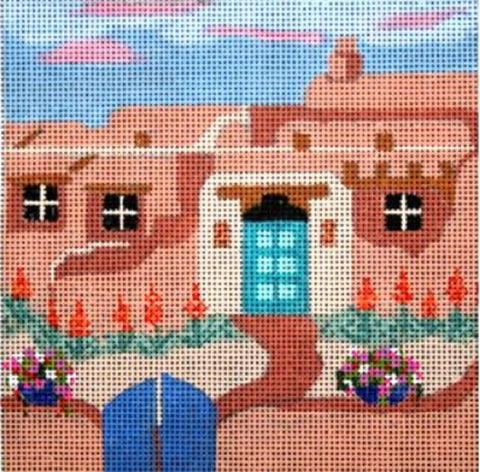 Needlepoint Handpainted Melissa Prince ADOBE HOUSE + SG 5x5