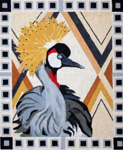 Needlepoint Handpainted Melissa Prince African Crane 10x12