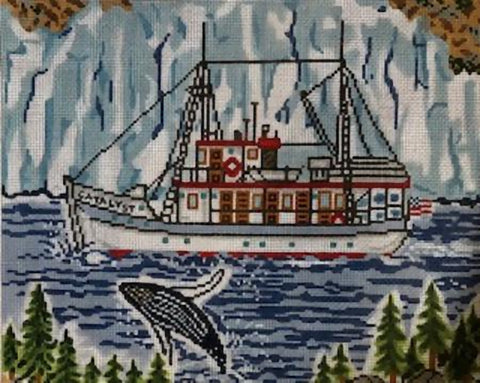 Needlepoint Handpainted Cooper Oaks Alaskan Adventure 8x10