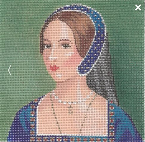 NEEDLEPOINT Handpainted Labors of Love TUDORS Anne Boleyn 5x5