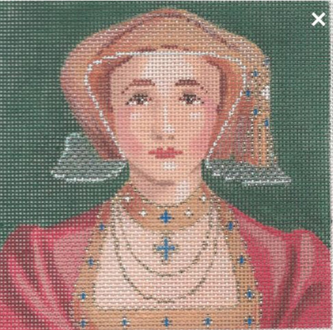 NEEDLEPOINT Handpainted Labors of Love TUDORS Anne of Cleeves 5x5