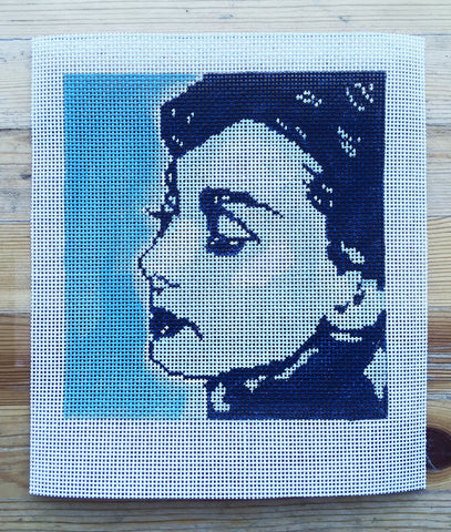 NEEDLEPOINT Handpainted AUDREY Hepburn CHARMED Tess and Thorn 6x7
