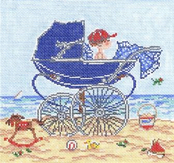 Needlepoint HandPainted Cooper Oaks Baby Boy 7x7