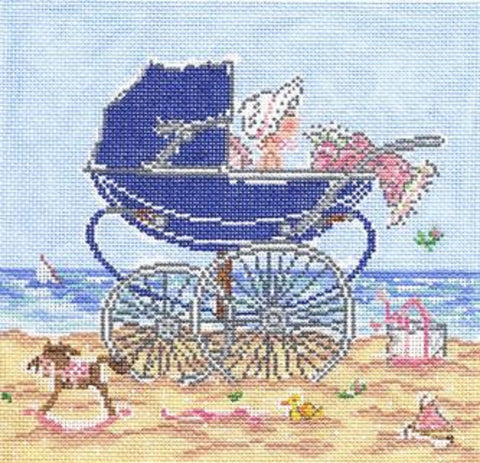 Needlepoint HandPainted Cooper Oaks Baby Girl 7x7