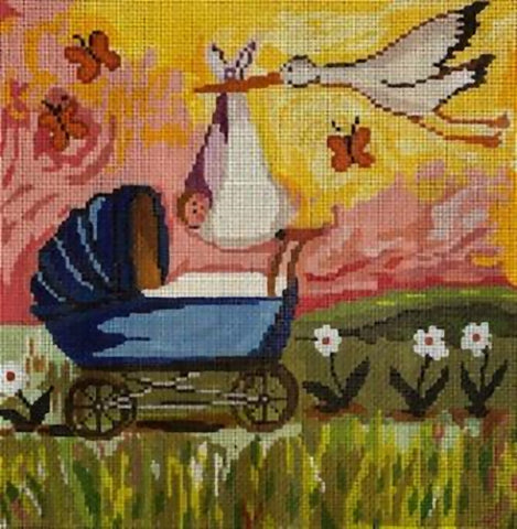 Needlepoint Handpainted Cooper Oaks Blessings 10x10