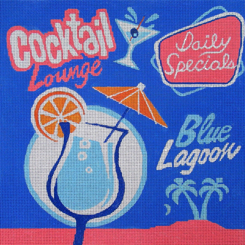 Needlepoint HandPainted Amanda Lawford Blue Lagoon 12x12