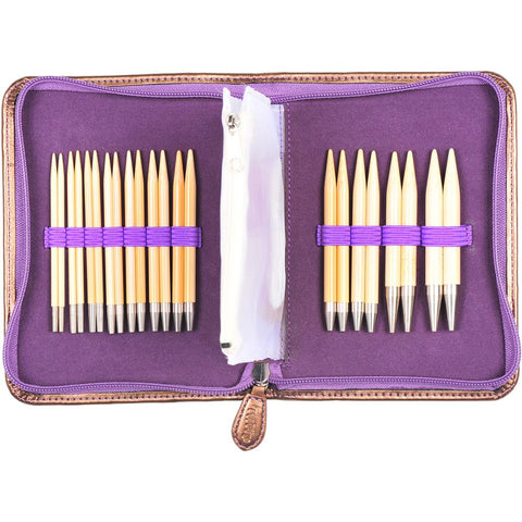 Knitting Needle Set Interchangeable CARRY C Tulip Bamboo
