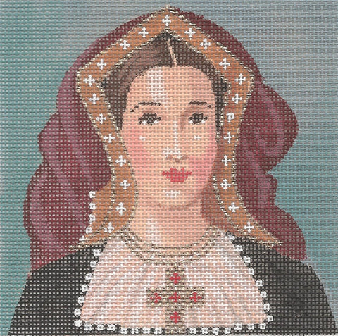 NEEDLEPOINT Handpainted Labors of Love TUDORS Catherine Aragon 5x5