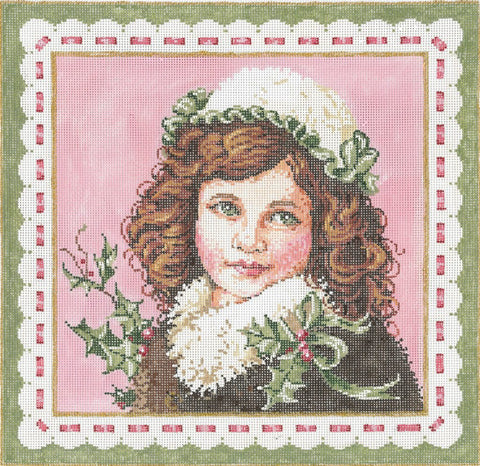 Needlepoint Handpainted Sandra Gilmore Christmas Clara w/ Stitch Guide