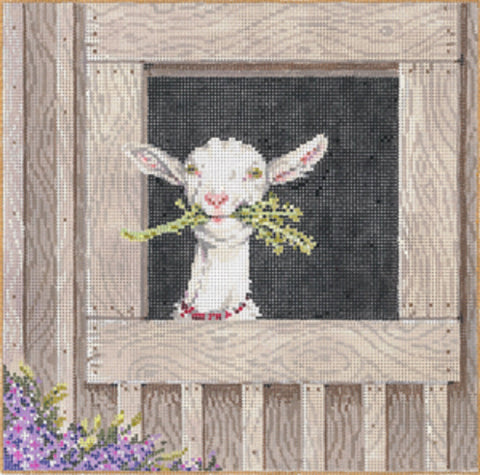 Needlepoint HANDPAINTED Canvas Sandra Gilmore CLEMENTINE Sheep 8x8