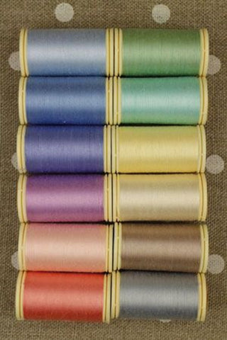 Cotton THREAD Fil au Chinois #2 PASTEL Tones Asst Set of 12 w/Box