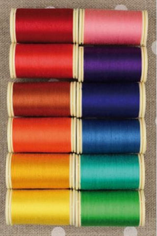 Cotton THREAD Fil au Chinois #4 BRIGHT Tones Asst Set of 12 w/Box