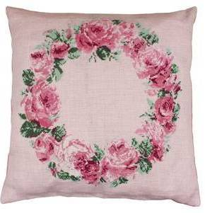 Sajou Counted Cross Stitch Kit Crown of Roses Cushion