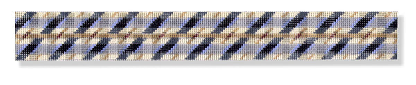 NEEDLEPOINT Handpainted BELT Melinda MCARA Diagonal Stripe 35""