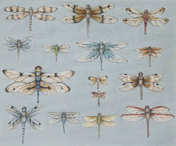 Needlepoint Handpainted Share Ones Ideas Dragonflies 12x10