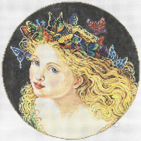 Needlepoint Handpainted Sandra Gilmore ENCHANTMENT 9""