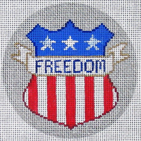 NEEDLEPOINT Handpainted Amanda Lawford AMERICA ORNAMENT Freedom DC Designs
