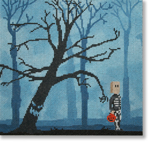 Needlepoint Handpainted Halloween SCOTT CHURCH Gimmie Your Candy