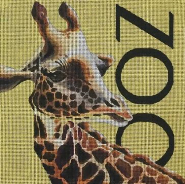 Needlepoint Handpainted Colors of Praise Giraffe Zoo 11x11