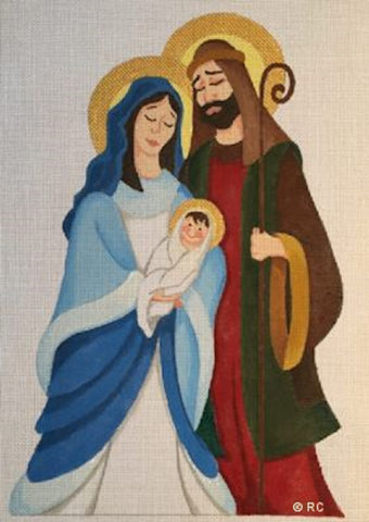 NEEDLEPOINT Handpainted CHRISTMAS Raymond Crawford NATIVITY Holy Family 9x13