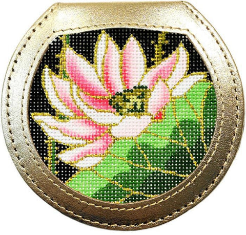 Lee Hand Mirror for Needlepoint Canvas Leather - Choose Your Color!