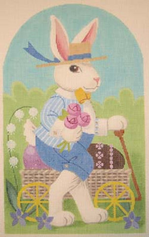 Needlepoint Handpainted EASTER Bunny HENRY Labors of Love 8x12