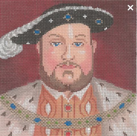 NEEDLEPOINT Handpainted Labors of Love TUDORS Henry VIII 5x5