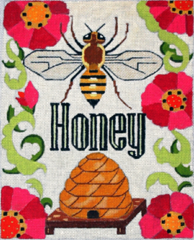 Needlepoint Handpainted Melissa Prince Honey 8x10