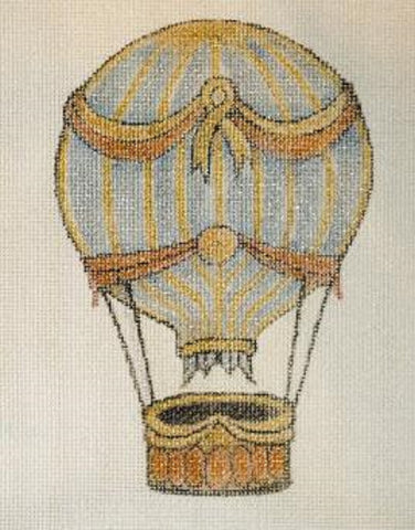 Needlepoint Handpainted CHRISTMAS Share Ones Ideas Hot Air Balloon 6x4